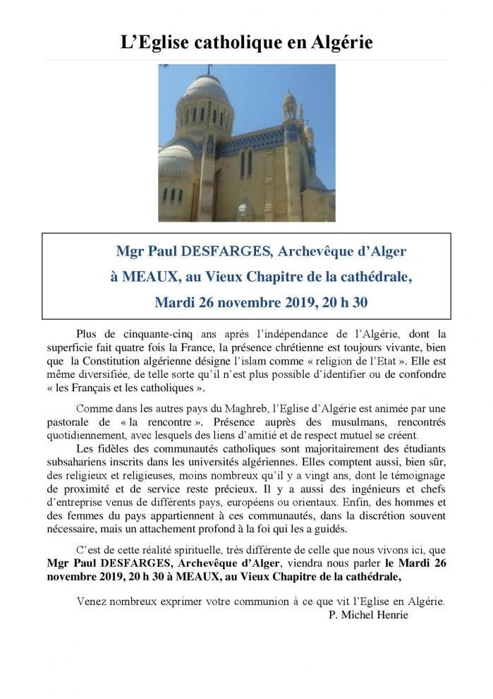 L eglise en algerie 26nov19